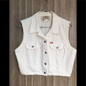 NEW DEAL vintage timeless white button up vest